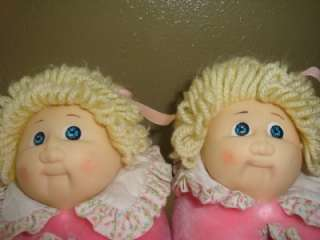 VINTAGE CPK CABBAGE PATCH KIDs GIRLS SLIPPERS COSTUME DOLL HEAD SHOES