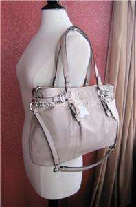 NWT COACH Madison Large Leather Carryall Bag 16359 Putty
