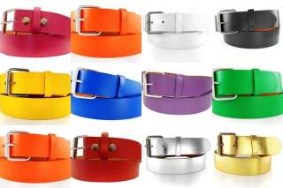 belts WHITE BLACK GREEN PURPLE ORANGE GOLD BLUE SILVER & YELLOW