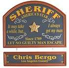 Personalized Sheriff Gift Wall Sign Decor Pub Bar Sign