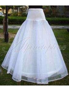 Womens Petticoat 1 Hoop 2 Layers Wedding Dress Ball Gown Bone Long