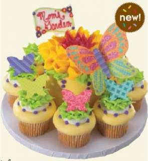 Whimsical Butterfly Poly Cake Cupcake Decoration Plastic Topper Layons