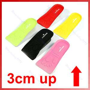 3CM Up Increase Height Half shoes insole For Men&Women
