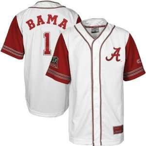 Alabama Crimson Tide White Bullpen Baseball Jersey  Sports
