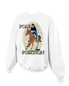 Pole Position Bender Bending Rodeo Horse Cowgirl Crewneck Sweatshirt S