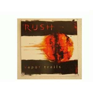 Rush Poster Flat 2 sided and a handbill Vapor Trails