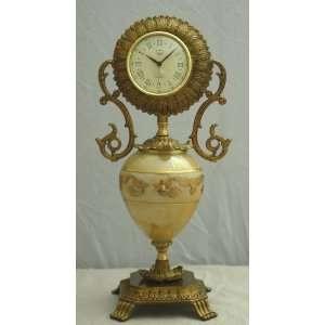 New Colored Murano Crystal Decorative Clock W/gold Art
