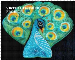 Peacock Study Cross Stitch Pattern Birds TBB