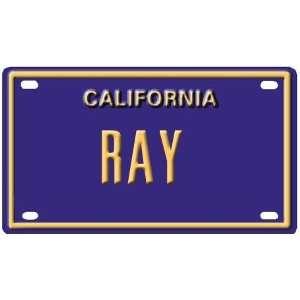Ray Mini Personalized California License Plate