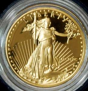 1990 4pcs American Eagle Gold Bullion Proof Coin Set w/Case & COA