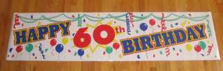 NEW Happy 60th Birthday Colorful Banner SAME DAY SHIP