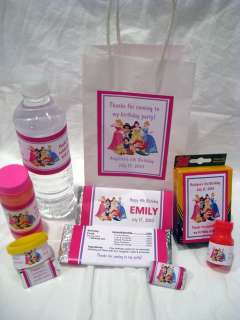 Disney Princess Birthday Invitation Favors Water Candy