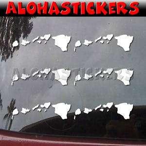 HAWAIIAN ISLANDS #3 Vinyl Decal Hawaii Car Sticker H96S