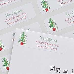 Christmas Tree Personalized Address Labels Office