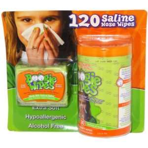 Boogie Wipes 120 Ct Value Pack Saline Nose Wipes Case Pack