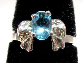 Childrens Rhinestone Crystal Turquoise Bow Tie Silver Ring ~ Size 3 1