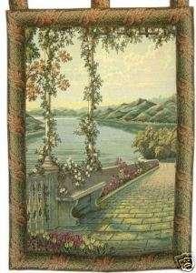 Lake Como Italian Wall Art Tapestry Home Decor Vertical