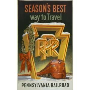 1955 Pennsylvania Railroad Vintage Travel Poster:  Home