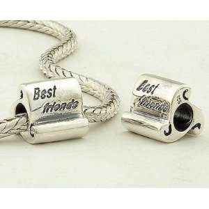 Sterling Silver European Style Antique Silver Best Friends Charms