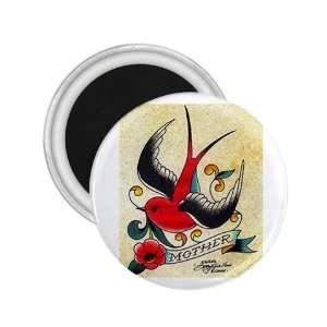 NEW Tattoo Bird Sparrow Fridge Souvenir Magnet 2.25