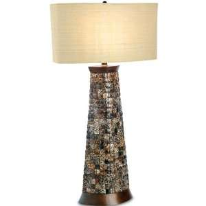 Palecek Leopard Shell Table Lamp   SKU Home Improvement
