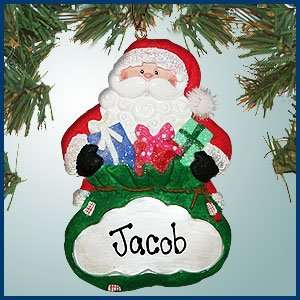 Personalized Christmas Ornaments   Santa with Presents Ornament