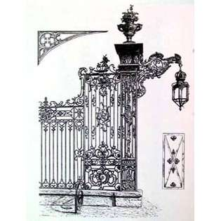 ow Wrought Iron Gate IV By Unknown 14 X 18