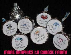 Wedding ~ Bridal Shower Kiss Candy Wrappers Labels Personalized Favors