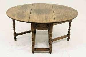 Antique Scottish Oak Gateleg, Drop Leaf, Sofa, Foyer Table