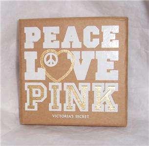 Victorias Secret PINK Dog Peace sign heart Necklace NIB