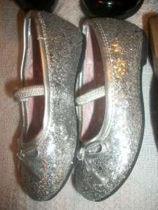 NEW & EUC~Toddler GIRLS SHOE~Dress Shoes Size 5 6~Silver Brown Black