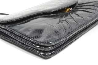 Black Vintage Judith Leiber Snakeskin Handbag Clutch