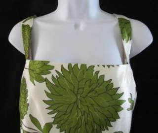 JESSICA HOWARD Green White Floral Flower Belted 2PC Dress Cardigan