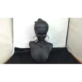 Jewelry Display Bust Black Resin Mini 8 Mannequin Head Earring