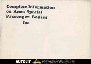 1920 ? Ford Model T Ames Body Brochure Speedster
