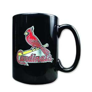 MLB St Louis Cardinals 15oz Black Ceramic Coffee Mug