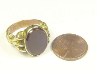 MAGNIFICENT ANTIQUE ENGLISH GOLD CARNELIAN CLAW SEAL RING c1840