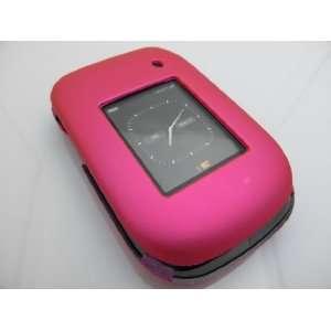 HOT PINK Hard Rubber Feel Plastic Case for Blackberry