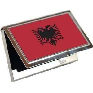 Albania Flag Business Card Holder