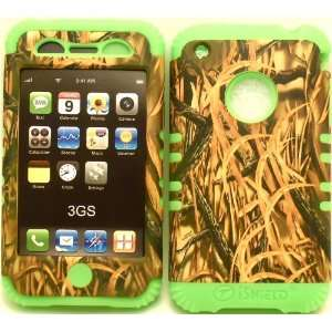 Camo Grass on Lime Silicone for Apple iPhone 3G 3GS Hybrid