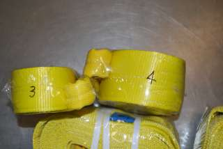 Two 2x12, Tow Strap&Lifting Sling2Ply,WLL6400lbs New