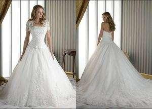New Chapel Beach Wedding Dress Bride Ball Gown Size 6 8 10 12 + + +