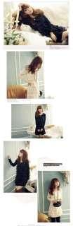 New Korea Womens Sweetheart Black Lace Tiered Dress