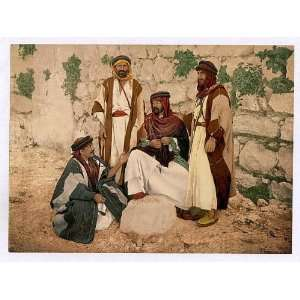 Photochrom Reprint of Bedouin group, Holy Land Home & Kitchen