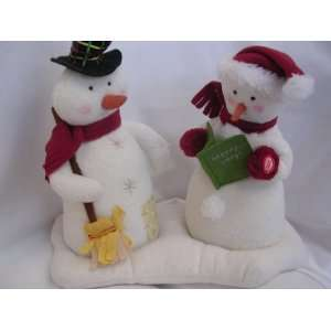 We Wish You a Merry Christmas Musical Motion Snowpeople