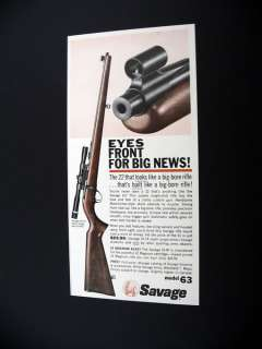 Savage Model 63 .22 22 Gun Rifle 1964 print Ad