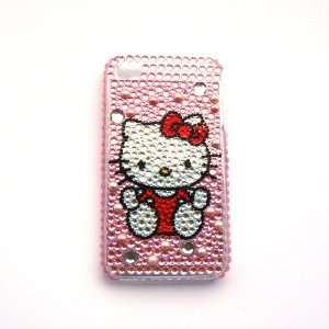 Hello Kitty dress red Rhinestone Bling Crystal back cover
