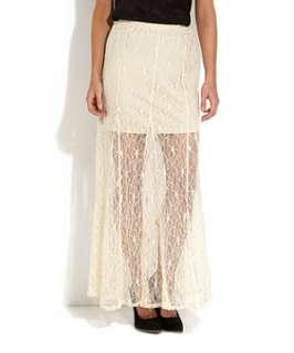 Winter White (Cream) Cream Lace Maxi Skirt  251247512  New Look