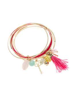 null (Multi Col) Charm Bangles  242973299  New Look