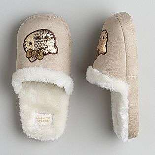 Juniors Sequined Slippers  Hello Kitty Shoes Womens Slippers